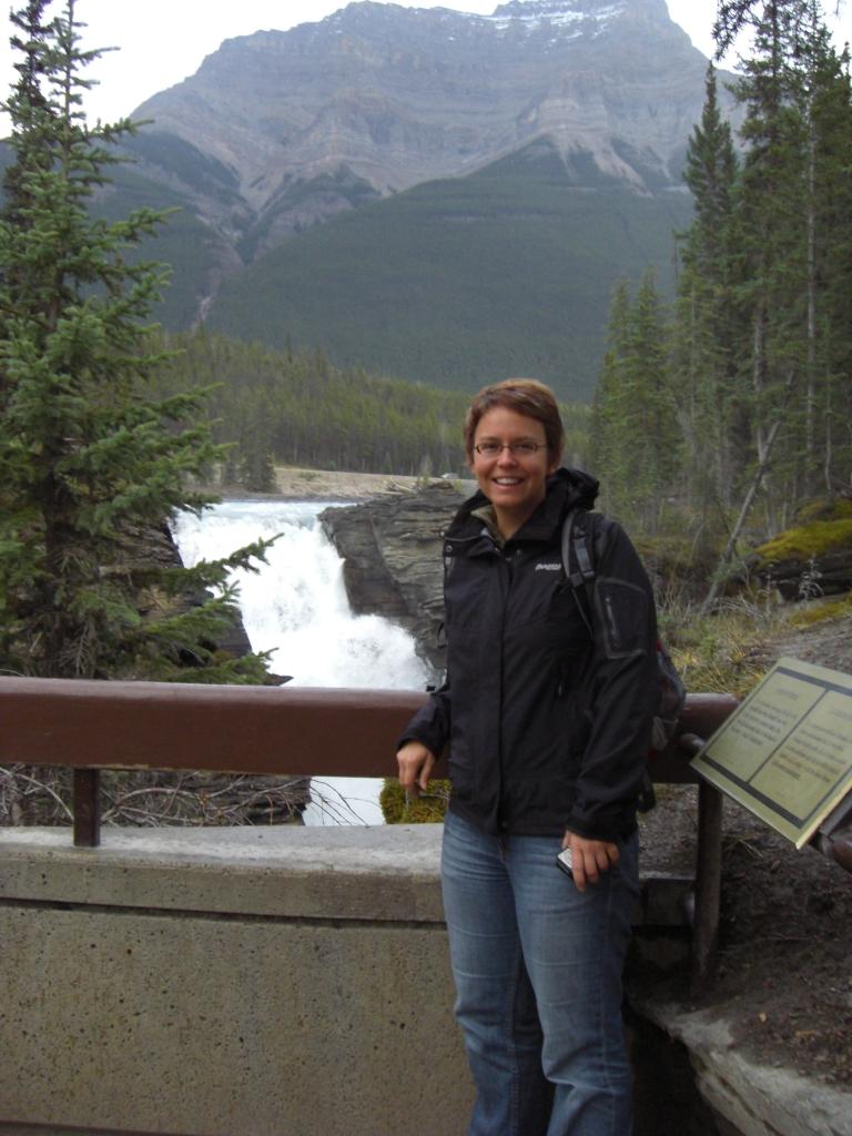 An den Athabasca Falls