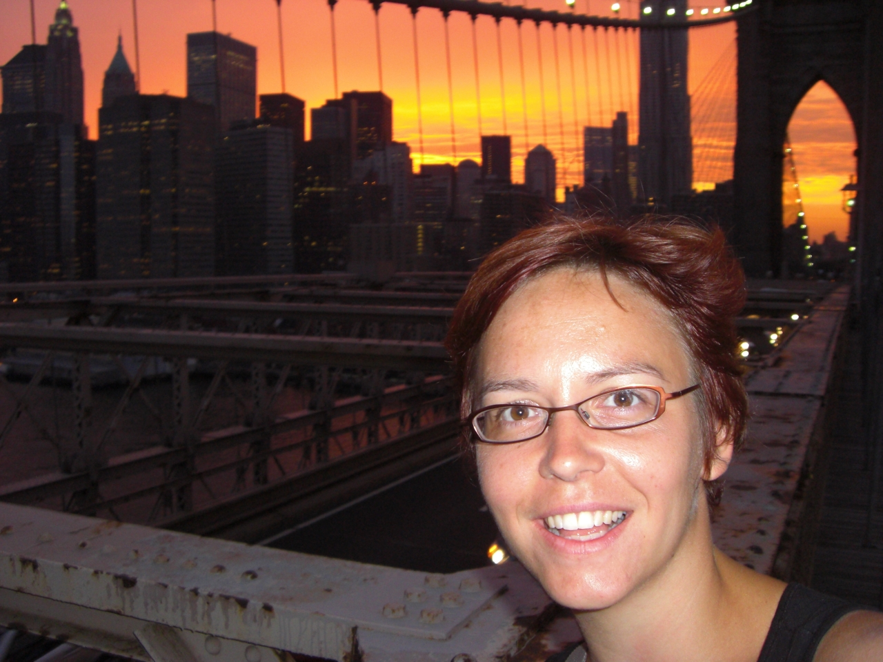 Brooklyn Bridge Selbstportrait