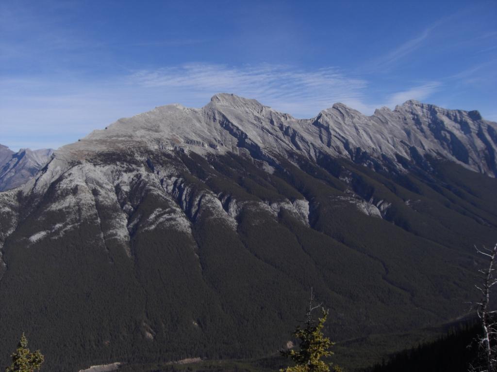 Der Berg trägt einen Faltenrock