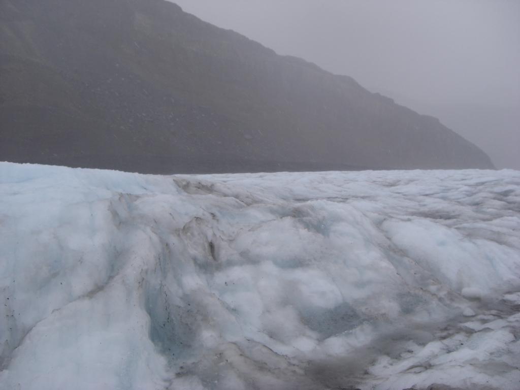 Gletscher im Regen