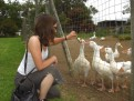 At the bird farm with Anne-Soleine