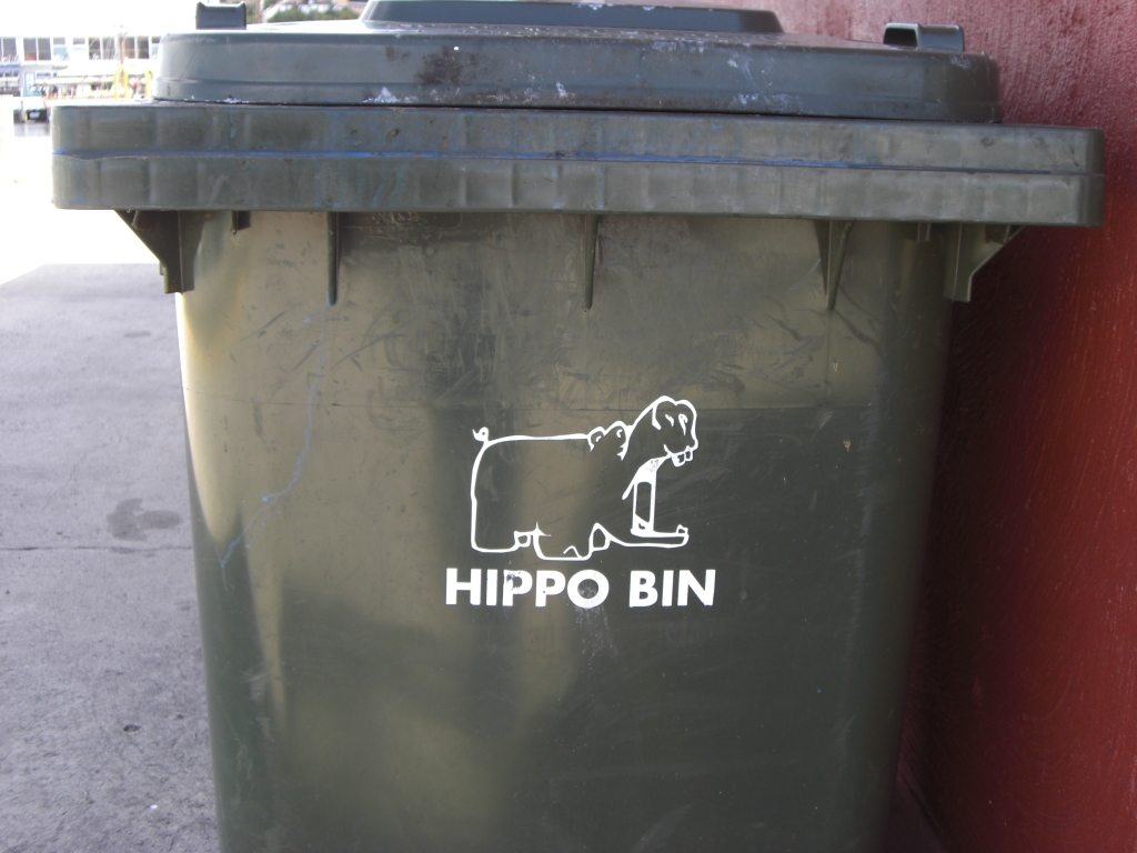 Please recycle your hippos here