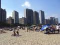 Strand mit Skyline