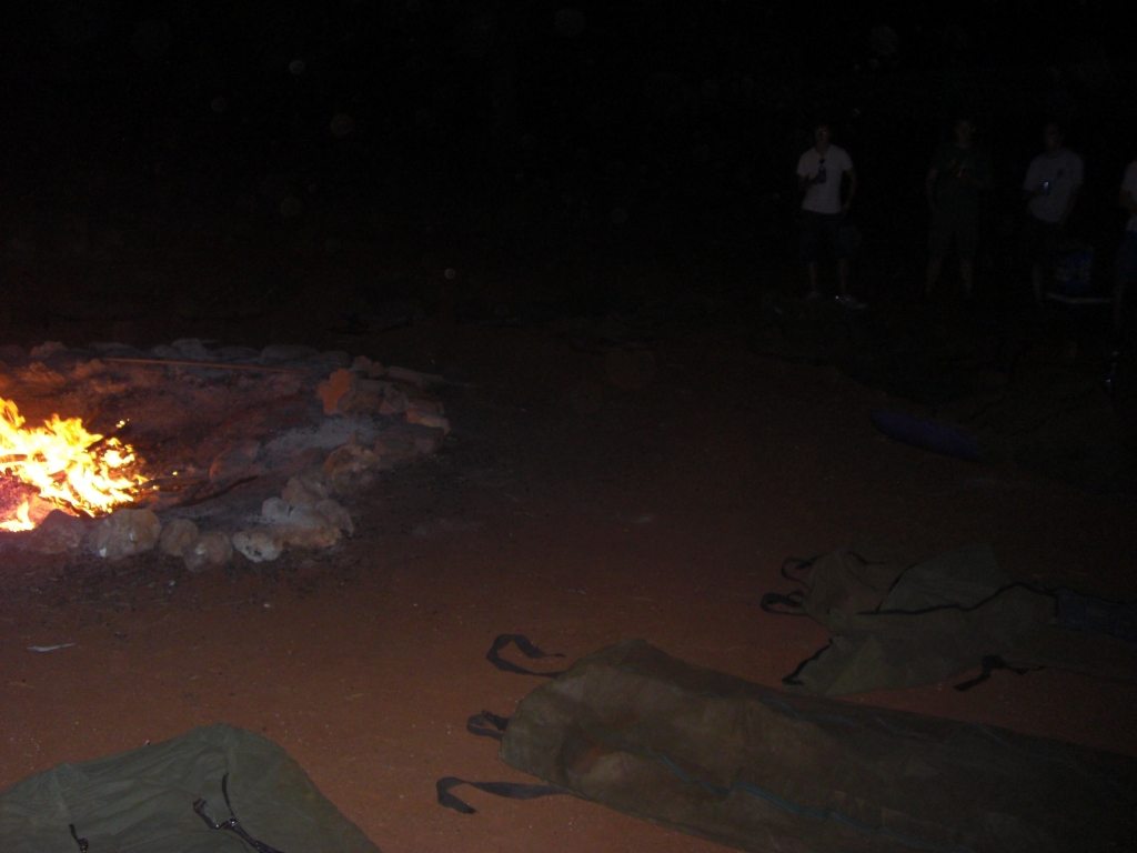 Swags around the campfire