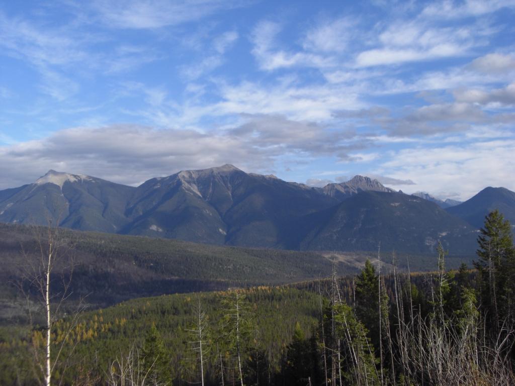 Zerknitterte Berge