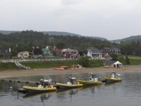Auf diesen munteren Booten ging's zum Wale gucken